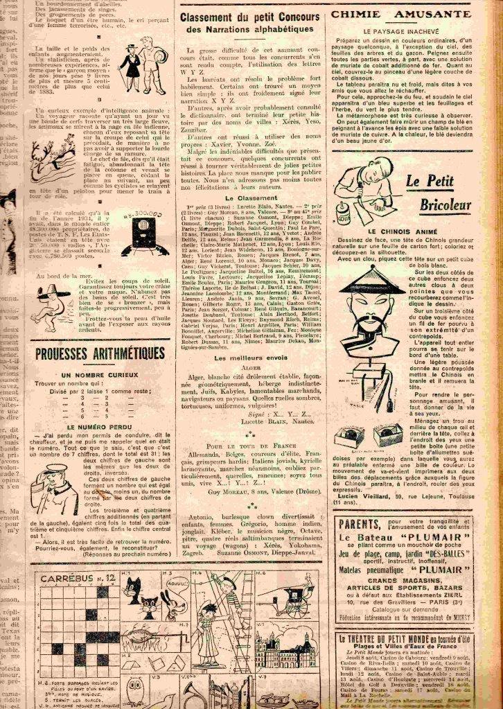 Niveau scolaire: le journal de mickey en 1934 sur https://l-ecole-a-la-maison.com Mickey2web