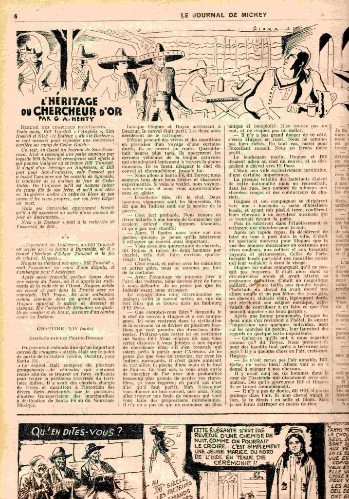Niveau scolaire: le journal de mickey en 1934 sur https://l-ecole-a-la-maison.com Mickey3web