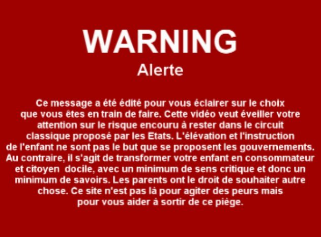 Warning danger école