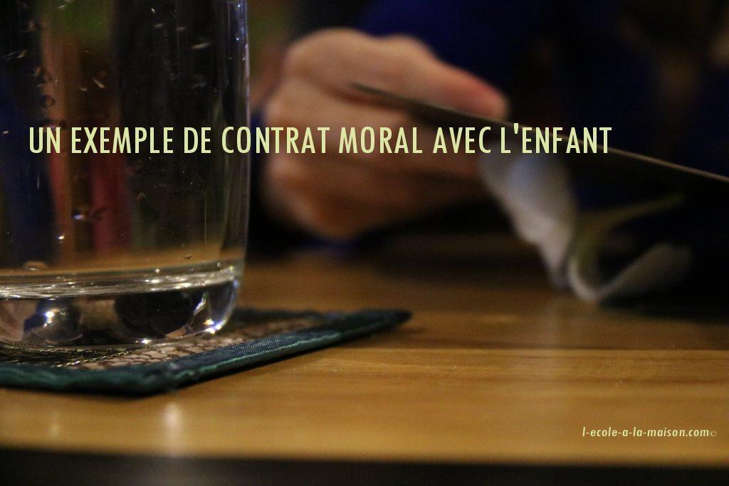 contrat moral