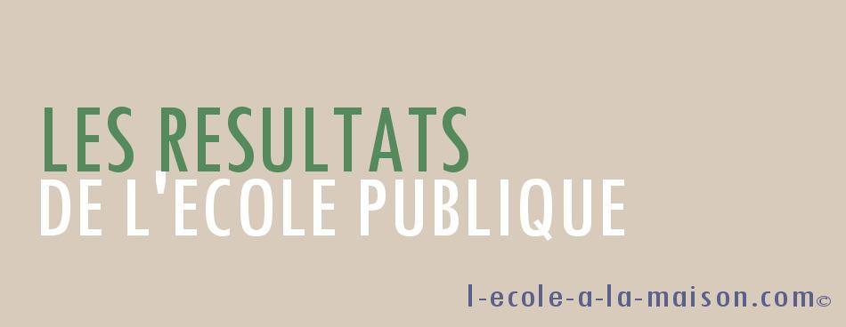 résultats de l'ecole publique l-ecole-a-la-maison.com