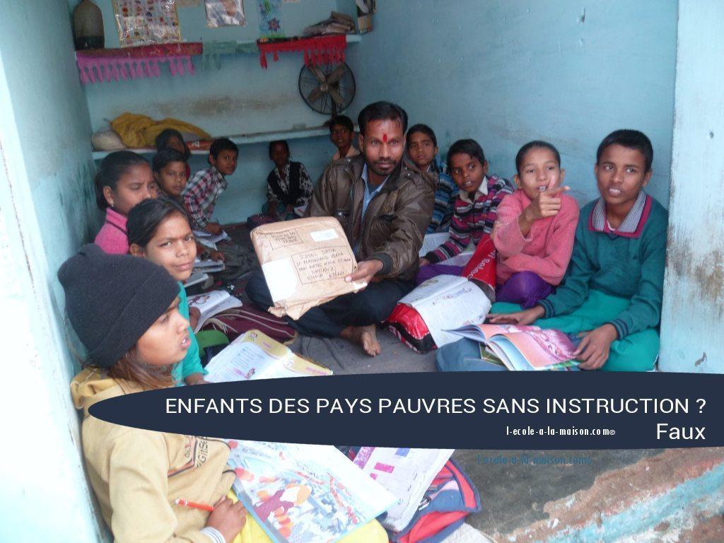 enfants des pays pauvres sans instruction ief l-ecole-a-la-maison.com