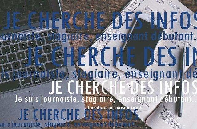 journaliste enseignant info ief l-ecole-a-la-maison.com
