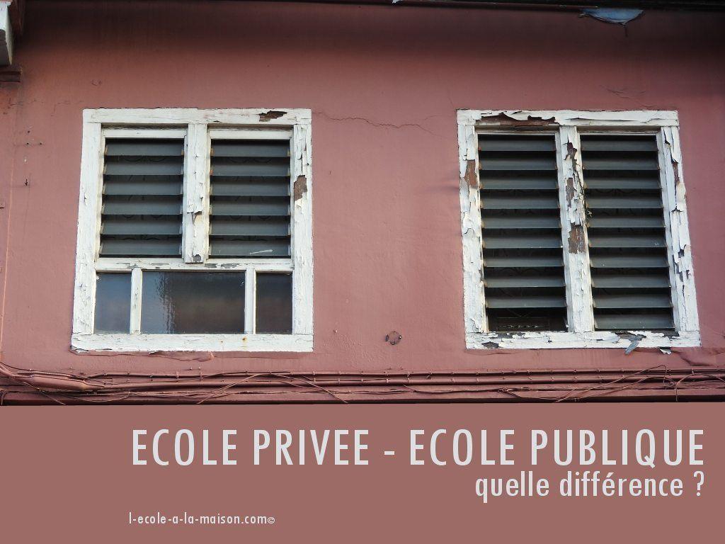 école publique écoles privées